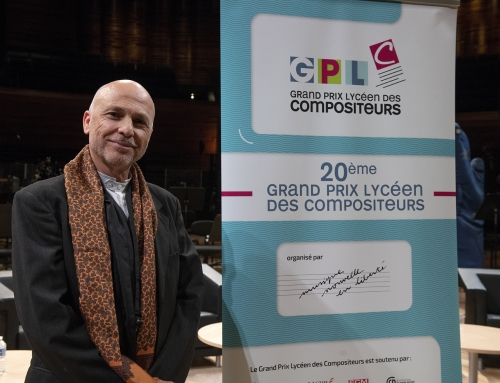 Grand Prix Lycéen des Compositeurs 2019Patrick Burgan wins the Professor's Prize20th GPLC – 4th april – Radio-France